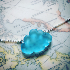 BLEU AIGUE MARINE COLLIER NUAGE