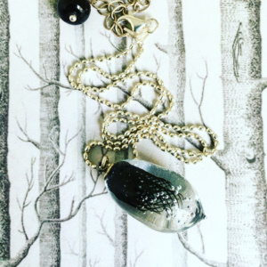 COLLECTION IMPLOSION NOIR PENDENTIF