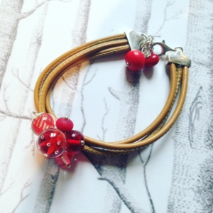 ROUGE GRAPHIC BRACELET CUIR