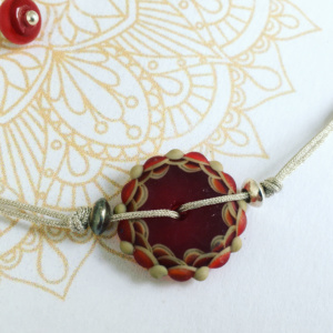 COLLECTION MANDALA BRACELET ROUGE